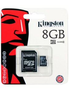 Cartao de Memoria Kingston SDC4/8GB Micro + 1 Adaptador SDC4/8GB