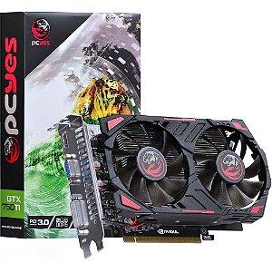 Placa de Vídeo VGA PCYes NVIDIA GeForce GTX 750 Ti 2GB DDR5 128Bits - PPV750TI12802D5