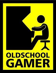 Placa Decorativa - OLD SCHOOL GAMER