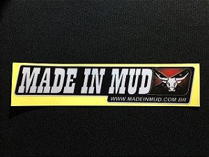 Adesivo Made in Mud Refletivo Pequeno 04x21,5 cm
