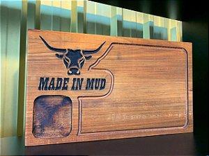 Tábua de Carne Made in Mud com Abridor de Garrafa de Parede