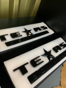 Emblema Texas Edition Grande - Preto
