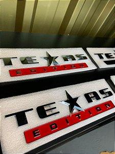 Emblema Texas Edition Grande - Cromado\Vermelho