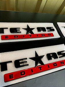 Emblema Texas Edition Grande - Preto\Vermelho