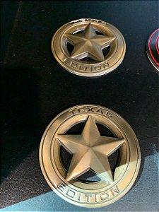 Emblema Texas Edition Redondo - Dourado