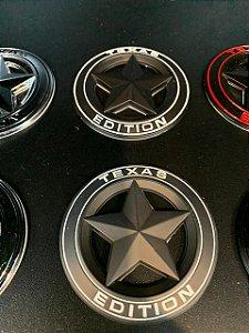 Emblema Texas Edition Redondo - Preto\Branco