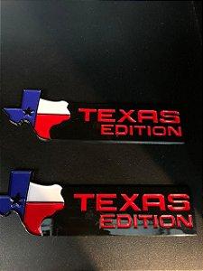 Emblema Texas Edition - Preto\Vermelho