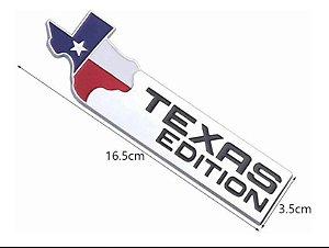 1x Emblema Texas Edition - Cromado 16,5cm x 3,5cm (PREÇO REFERENTE A 1 UNIDADE)