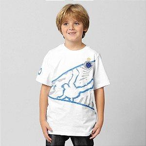 3b1a02ce56463 Camiseta Reebok Cruzeiro Player Infantil - Tamanho 12 Anos