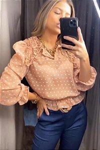 Blusa Gola Bordada