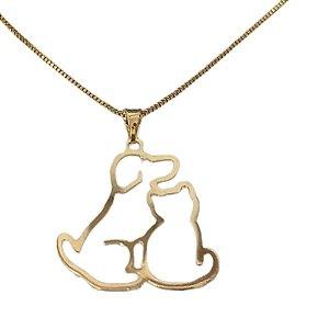 Colar de Cachorro e Gato Vazado - Dourado