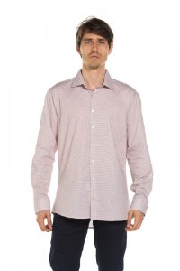 Camisa manga longa Xadrez - Branco/Vermelho