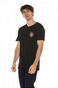 Camiseta Ilha caveira - Preta