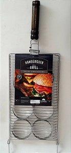 Grelha Para Hambúrguer Inox