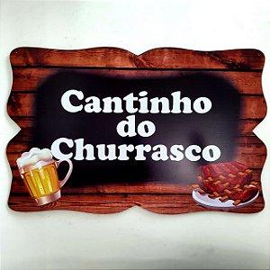Quadro Cantinho do Churrasco MDF