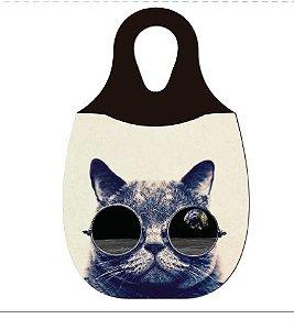 LIXEIRA DE CARRO EM NEOPRENE - Gato com Oculos