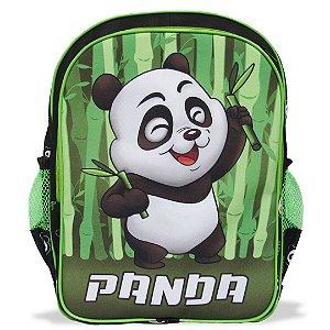 Mochila Escolar Infantil  de Costas Tamanho G Panda