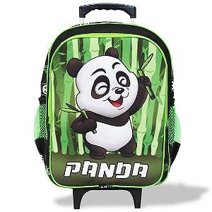 Mochila Escolar Infantil de Rodinhas Tam G Panda