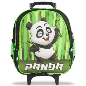 Mochila Escolar Infantil Tam M Rodinhas Panda