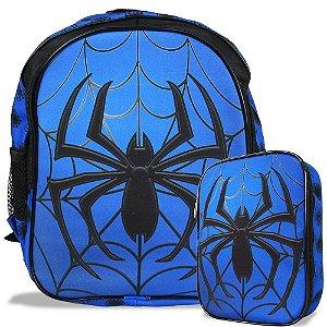Mochila Escolar de Costas Tam M e Estojo 100 Pens Spider