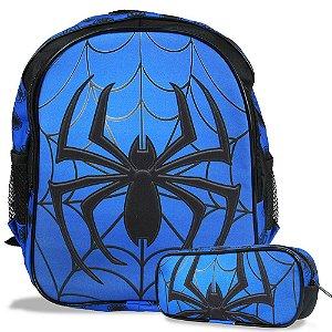Mochila Escolar de Costas Tam M e Estojo Spider