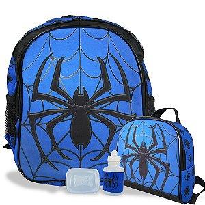 Mochila Escolar de Costas Tam M e Lancheira Spider