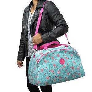 Bolsa De Viagem Feminina Flamingos Grande e Reforçada  Para todos os Momentos