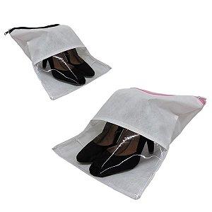 20 Unidades Saquinho Com visor TNT Porta Sapato e roupas