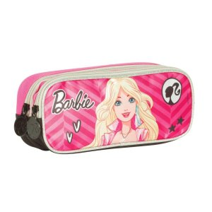 Estojo Escolar Sestini 2 Compartimentos Barbie