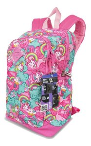 Mochila Escolar Infantil Unicórnio Magic Rosa Sestini