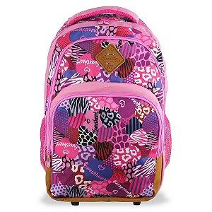 Mochila Juvenil Escolar Feminina Sweety Notebook Fuseco