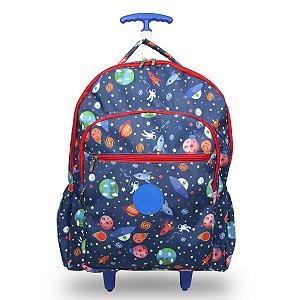 Mochila Escolar Infantil de rodinhas Galaxia
