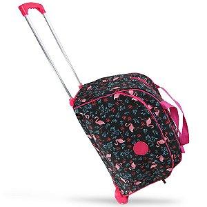 Bolsa Para Viagem de Rodinhas Flamingos