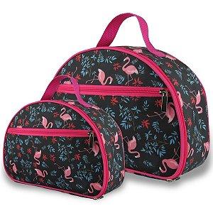 Kit Nécessaire Feminina M e P Flamingos