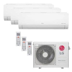 Ar Condicionado LG Multi Split Inverter 24.000 BTUs com 03 Evap HW 8.500 BTUs - Quente/Frio 220V