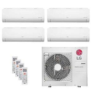 Ar Condicionado LG Multi Split Inverter 30.000 BTUs com 04 evap HW 8.500 BTUs - Quente/Frio 220V