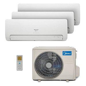 Ar-condicionado Multi Split Springer Midea Inverter 27.000 BTUs com 03 evap HW 9.000 BTUs - Quente/Frio