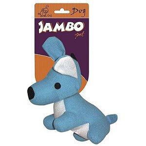Brinquedo de Cachorro Mordedor Pelúcia Fun Dog Azul Jambo