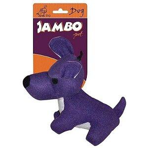 Brinquedo de Cachorro Mordedor Pelúcia Fun Dog Lilás Jambo