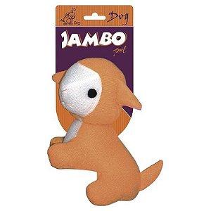 Brinquedo Jambo Mordedor Pelucia Fun Ovelha Laranja