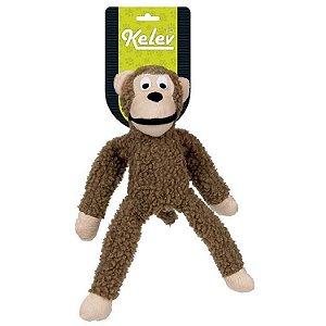 Brinquedo Jambo Mordedor Pelucia Macaco Medio Bege Kelev