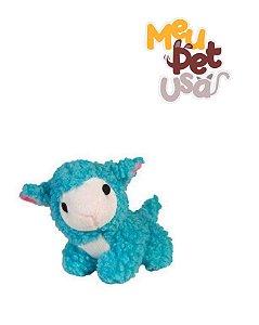 Brinquedo Mordedor para Cães  Pelucia Ovelha Baa Azul Jambo Pet