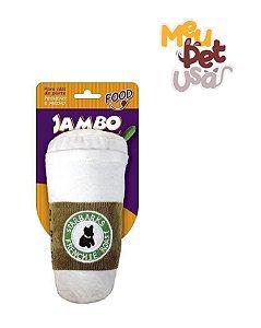 Brinquedo de Cachorro Pelúcia Copo Branco Grande Jambo Pet