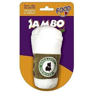 Brinquedo de Cachorro Pelúcia Starbarks Pq Branco Jambo Pet