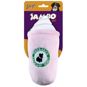 Brinquedo Jambo Mordedor Pelucia Starbarks Rosa Grande