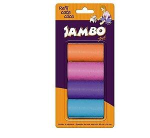 Refil Jambo Sacolas cata caca 4 Rolos Basic