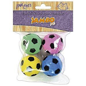 Brinquedo Jambo Cat Bolinha Fut - 4 Unidades