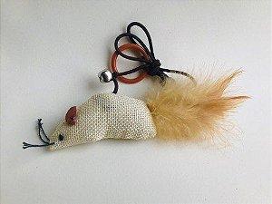 Brinquedo de Gato com Catnip Rato Natural Jambo
