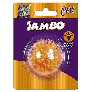 Brinquedo Para Gato Jambo Bola Luz Espinho Mini Laranja