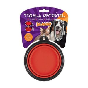Tigela Plastica Retrátil Vermelha Media 250ml